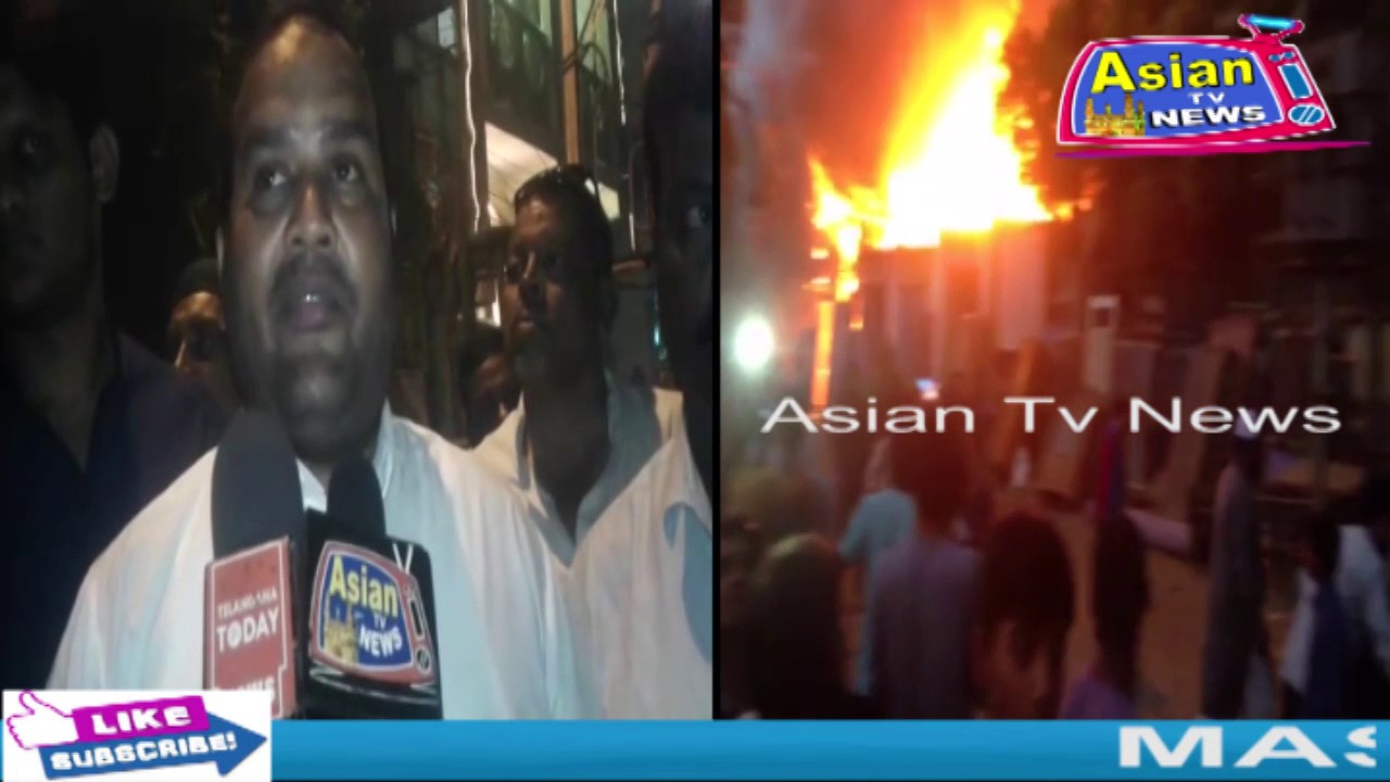 asian tv news. massive fire accident in plywood godown beside