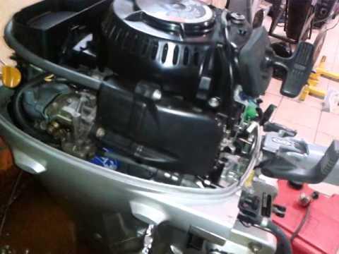 лодочный мотор honda 8 видео