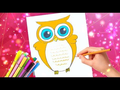 Как нарисовать ученую сову