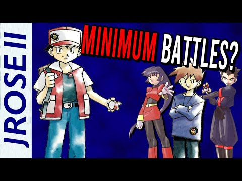 What are the LEAST amount of battles to beat Pokemon Red/Blue with NO ITEMS?
