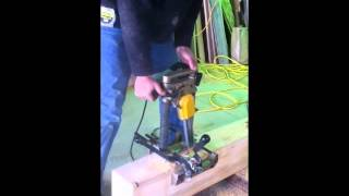 Timber Framing: Mortise Machine at Work