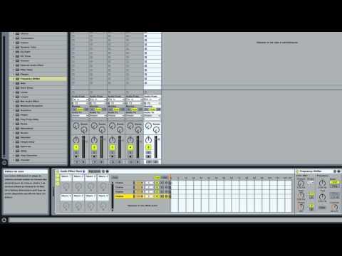 Ableton Live: automation rack effet
