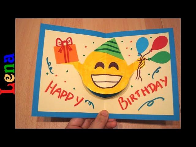3d emoji birthday card diy gift card