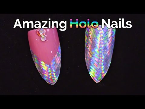 Amazing Holographic Nails - Fish Tail and Plaited Design