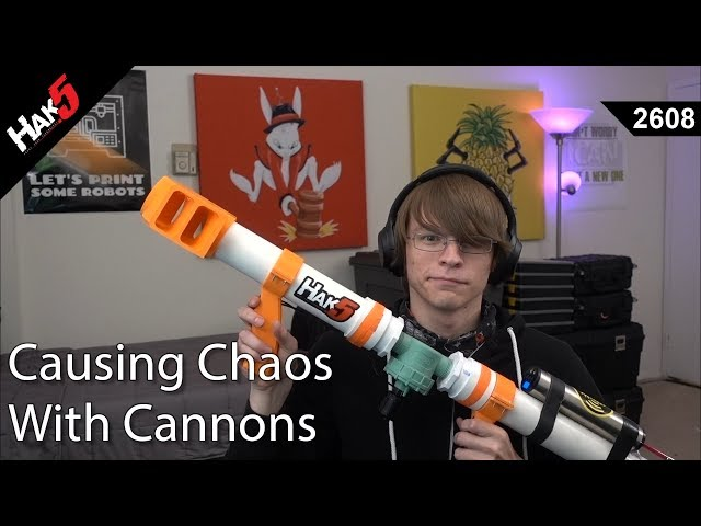 Glytch Causes Chaos with Cannons - Hak5 2608