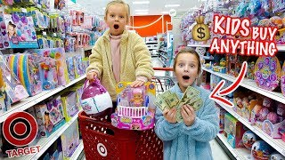 Kids No Budget Target Shopping! 🤑 Peyton & Olivia Toy Haul