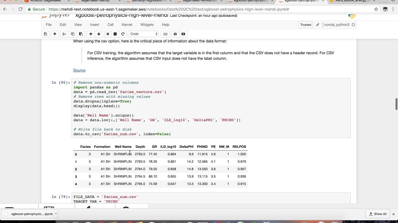 Porosity Prediction with Amazon Sagemaker's XGBoost Algoirithm