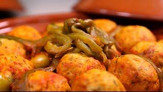 شميشة : طاجين كويرات الدجاج بصلصة الطماطم والزيتون   طاجين كويرات الدجاج بالبصل والعنب المجفف