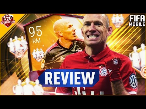 FIFA MOBILE TOTW MASTER 95 IF  RM ROBBEN REVIEW #FIFAMOBILE 95 TOTW MASTER ROBBEN PLAYER REVIEW