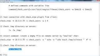 Nagios NRPE Remote Command Injection: Test + Fix