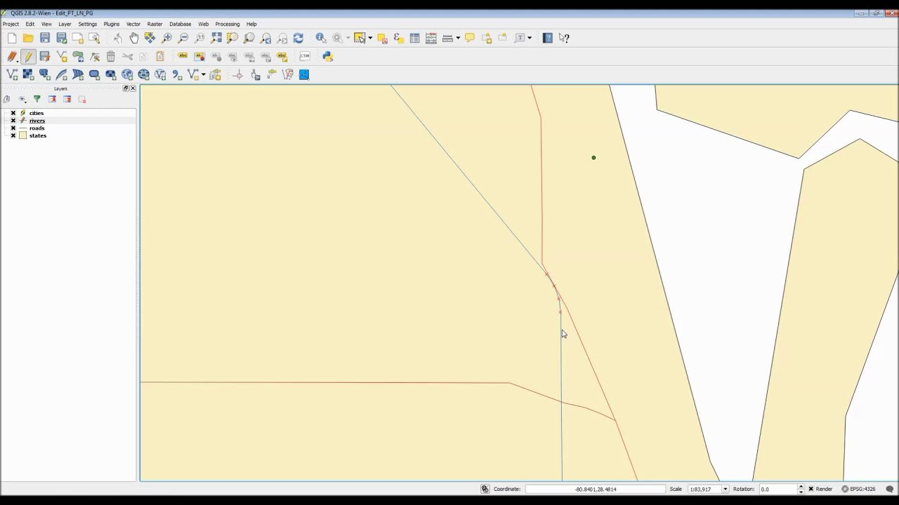 QGIS -- Edit Points Lines and Polygons