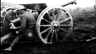 Us 128th Field Artillery Firing  French 75-mm Guns  At Le Cotes De Forimont On Se...hd Stock Footage
