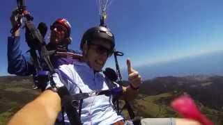 Paragliding Portugal Madeira Calheta - Полет на параплане над Мадейрой