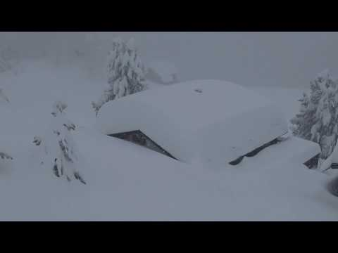 Extrem Schnee Bettmeralp + Riederalp 22.01.2018