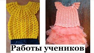 Платья, топы, туники, джемперы Зефирка Зефир Работы по МК Мамочкиного канала