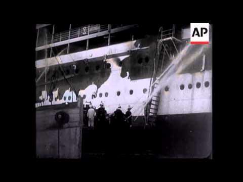 Burning of SS 'Ausonia'