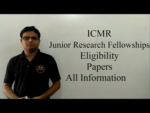 ICMR - Junior Research Fellowships