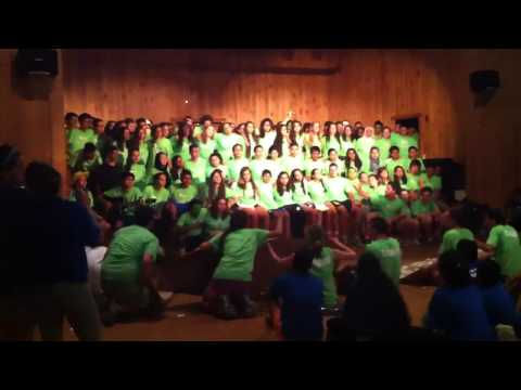 """""""Seeds Forever"""" - Green Team Song, Seeds of Peace Color Games - Session 1 2013"""