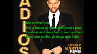- Adios -ricky Martin Ft Nicky Jam Con Letr