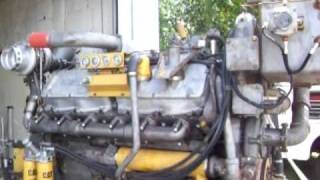Caterpillar 3412DITA engine start up and run after overhaul