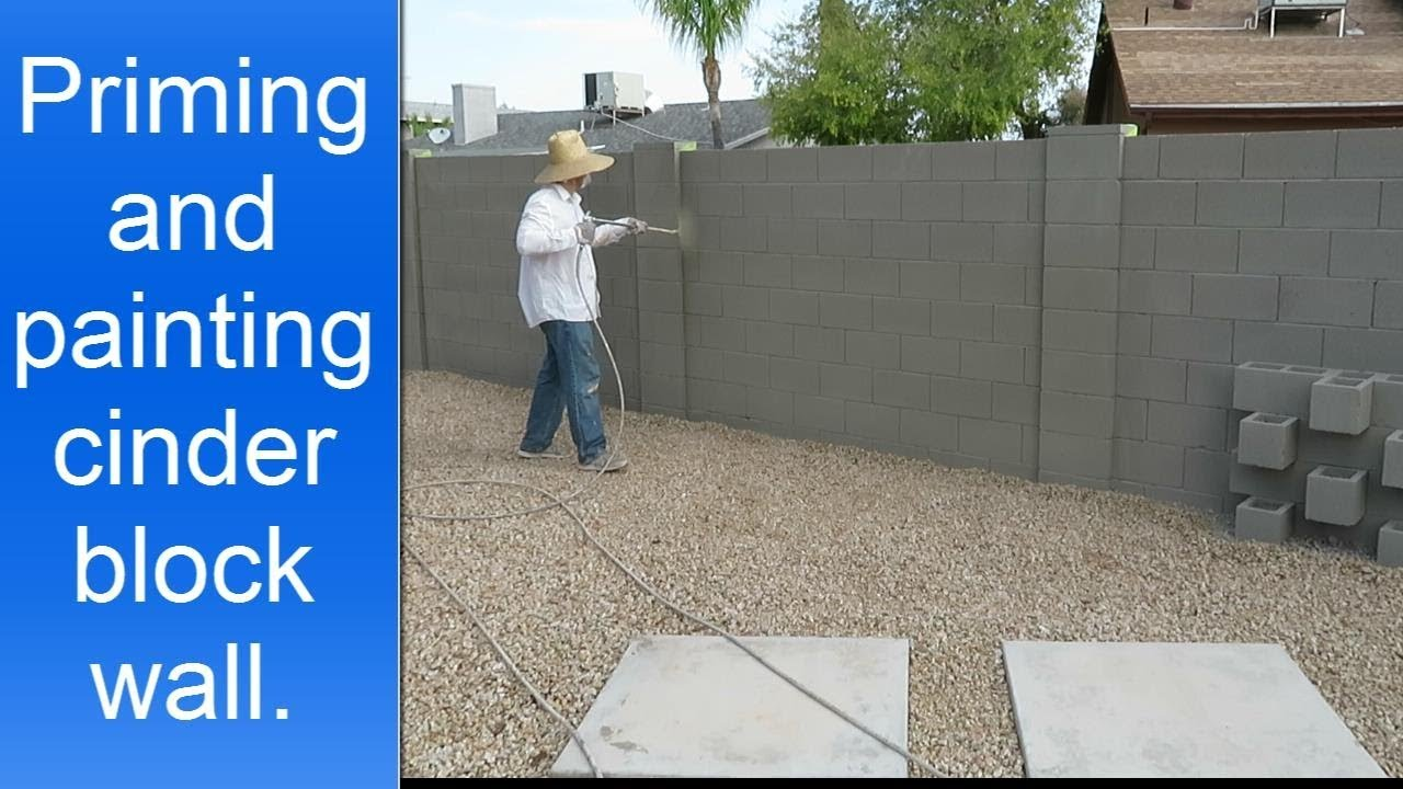 Cinder Block Wall Painting Youtube