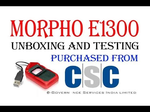 morpho unboxing and testing purchased from csc