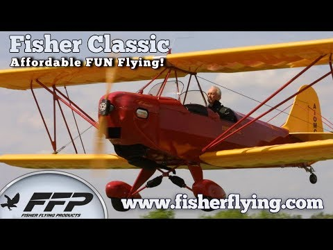 Fisher Classic, Fisher Flying Products Classic Experimental All Wood Bi-Plane.