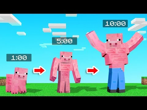 MINECRAFT But The MOBS Get STRONGER Every Minute!