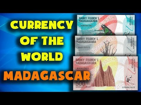 Currency of the world - Madagascar. Malagasy ariary. Exchang