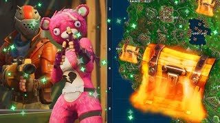 """NEW GAME MODE! + ALL """"COFRES"""" TREASURE LOCATIONS ON THE FORTnite MAP (FREE PAVOS)"""