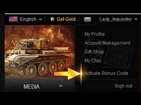 BONUS CODE - WORLD OF TANKS BLITZ!