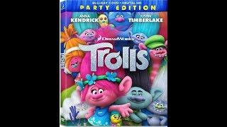 Opening to Trolls 2017 Blu-ray