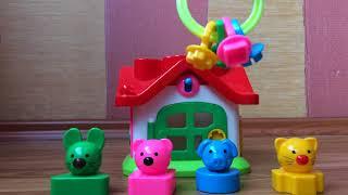 Теремок. Развивающие игрушки для детей от 1 года. Цвета, формы и животные. Развивающее видео малышам