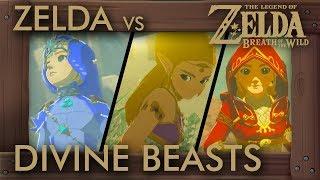What If Zelda Fights Divine Beasts in Zelda Breath of the Wild?