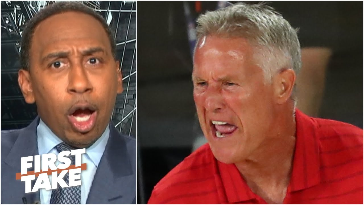 Stephen A. predicts Brett Brown will be fired after the 76ers got swept by the Celtics | First Take