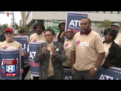 Rep. Fudge joins ATU Local 268 to launch ride to the polls