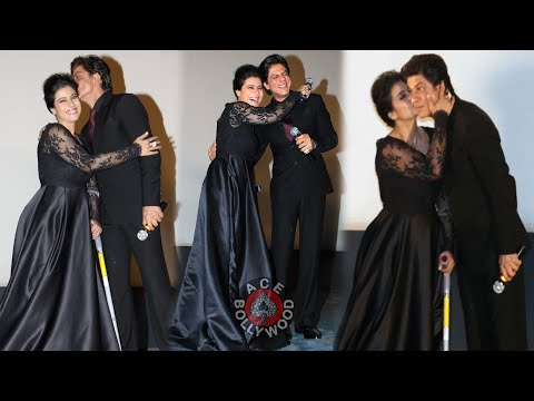 Shahrukh Khan and Kajol at Maratha Mandir to Celebrate DDLJ