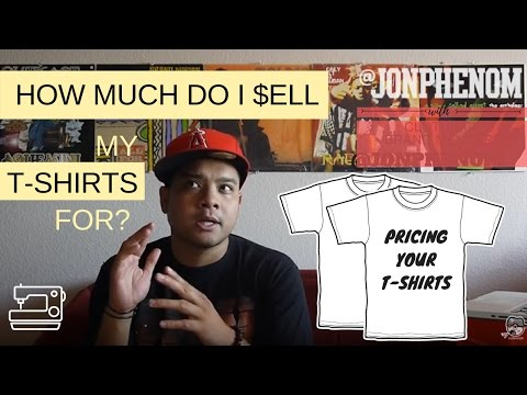 HOW MUCH DO I SELL MY T-SHIRTS FOR? with Designer @JonPhenom