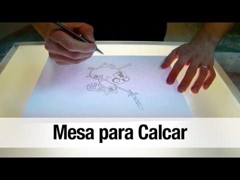 Como hacer una mesa de luz para calcar youtube for Mesa de luz para dibujo