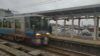 あいの風ライナー泊行 津幡駅高速通過!