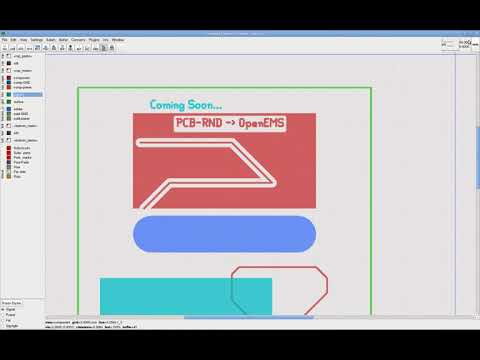 pcb-rnd to openems (coming soon) - YouTube