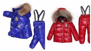 Детская одежда с AliExpress детский зимний комплект из теплой куртки пуховика с гусиным пухом