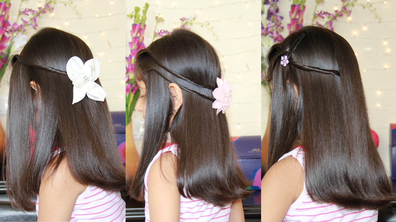3 Simple Amp Cute Hairstyles Youtube