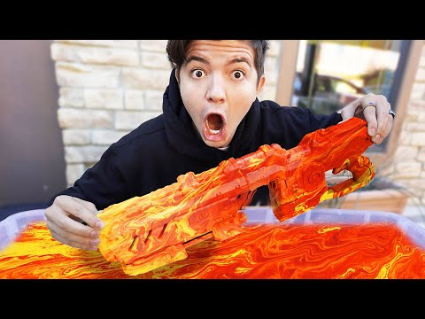 I Hydro Dipped 5 Custom NERF Blasters! *satisfying*