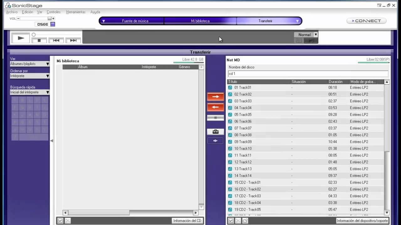 logiciel sonicstage 3.4