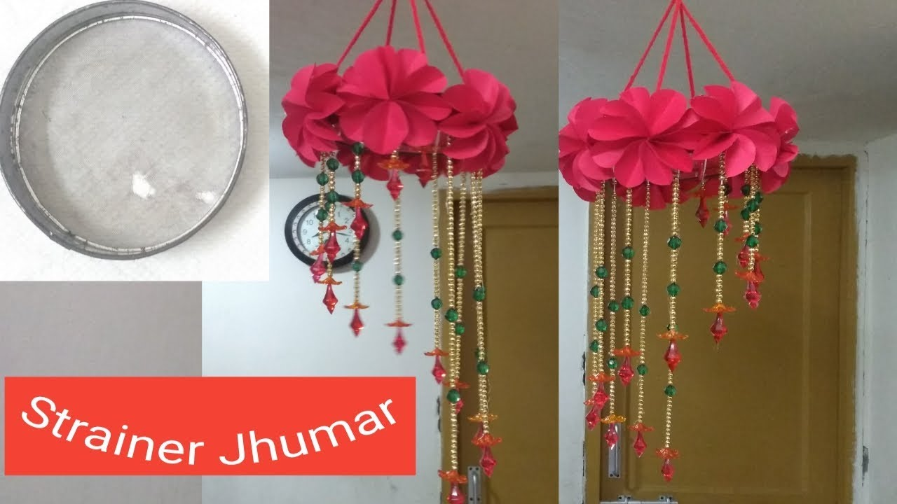 Diy Wind Chime How To Make Jhumar Using Paper Wall Hanging