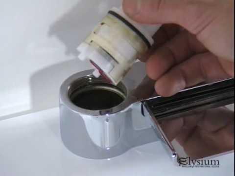 Sostituzione cartuccia miscelatore vasca Elysium  YouTube
