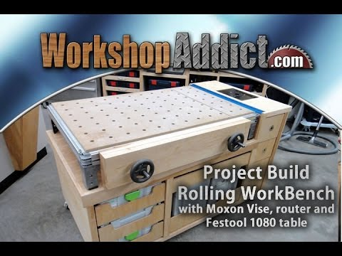 Rolling Woodworkers Bench (part 2)  with Festool MFT/1080 table – Full Build.