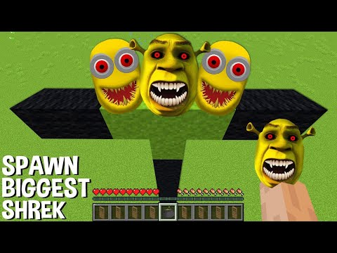 This is a SUPER SECRET WAY TO SPAWN MULTI MOB in Minecraft ! SHREK and MINION !
