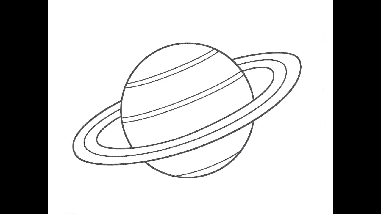 planet saturn drawing - photo #1